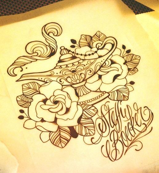 517x563 Tattoo Designs A Tattoo Lamps Tattoo Aladdin Tattoos Tattoo