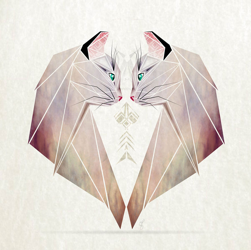 880x877 Inspired By Tangram, I Started Creating Geometric Illustrations
