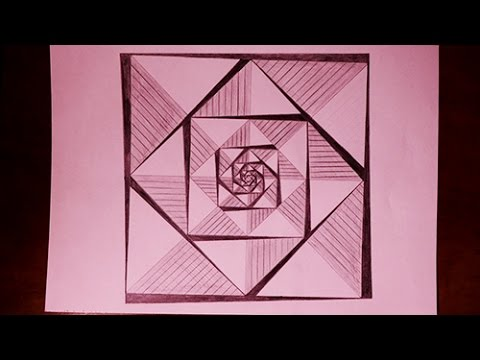 480x360 How To Draw Easy Geometric Square Patterns Painting
