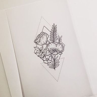 384x384 Absolutely Love!!! Wild Flower Geometric Tato Wild