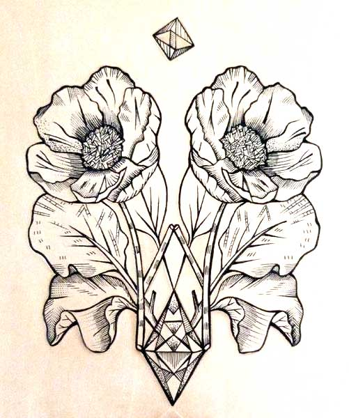 501x600 Geometrical Flower Tattoo Art.jpg Pixels Tatty Tat Tat