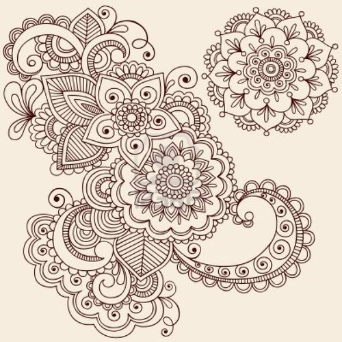 500x500 Forget Me Not [Smile] Geometric Flower Drawings
