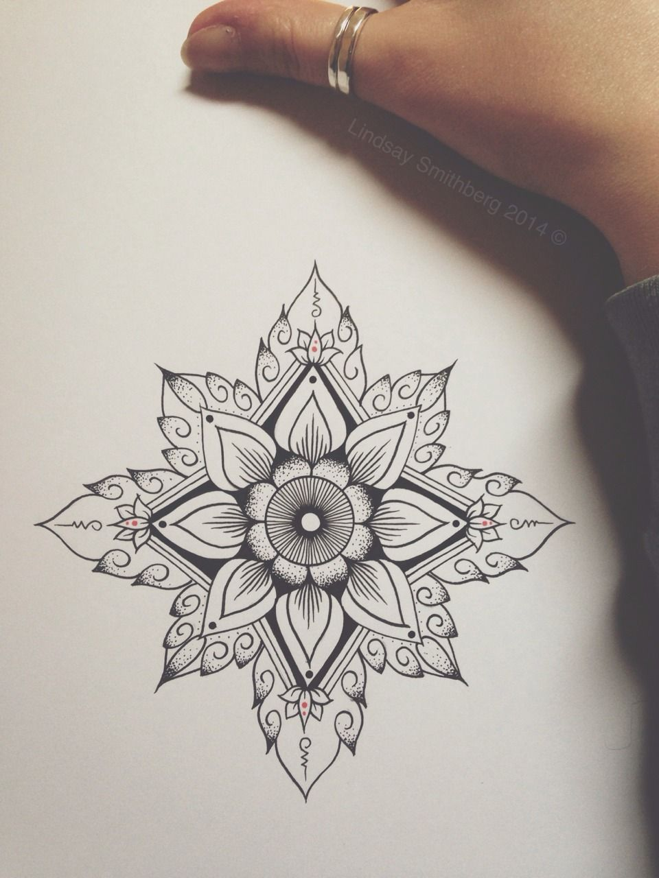960x1280 Geometric Flower Art Tattoo Sketchbook Ideas