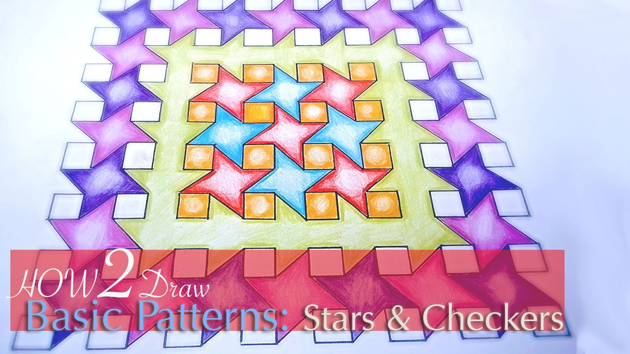 1280x720 How To Draw Simple Geometric Patterns Stars And Squares