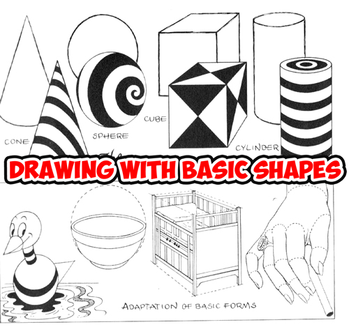 500x469 How To Draw What You See By Drawing Basic Shapes First