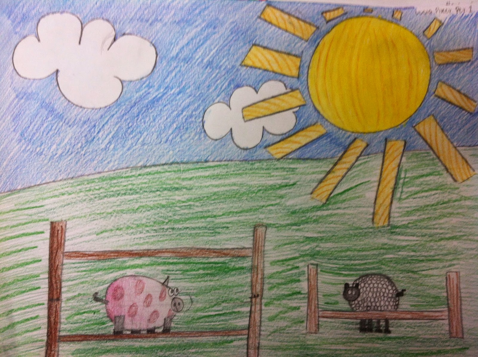 1600x1195 Mrs. Wille's Art Room Landscape Drawing Using Only Geometric Shapes