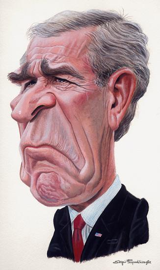 326x550 George W. Bush Printed