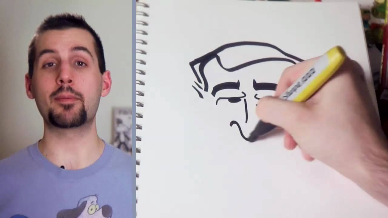 1280x720 How To Draw George W. Bush In 15 Seconds