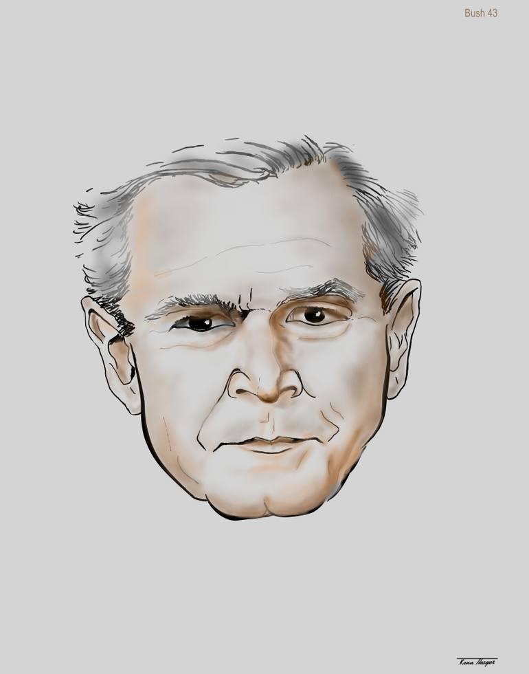770x980 Saatchi Art George W Bush Drawing By Charles K Thayer