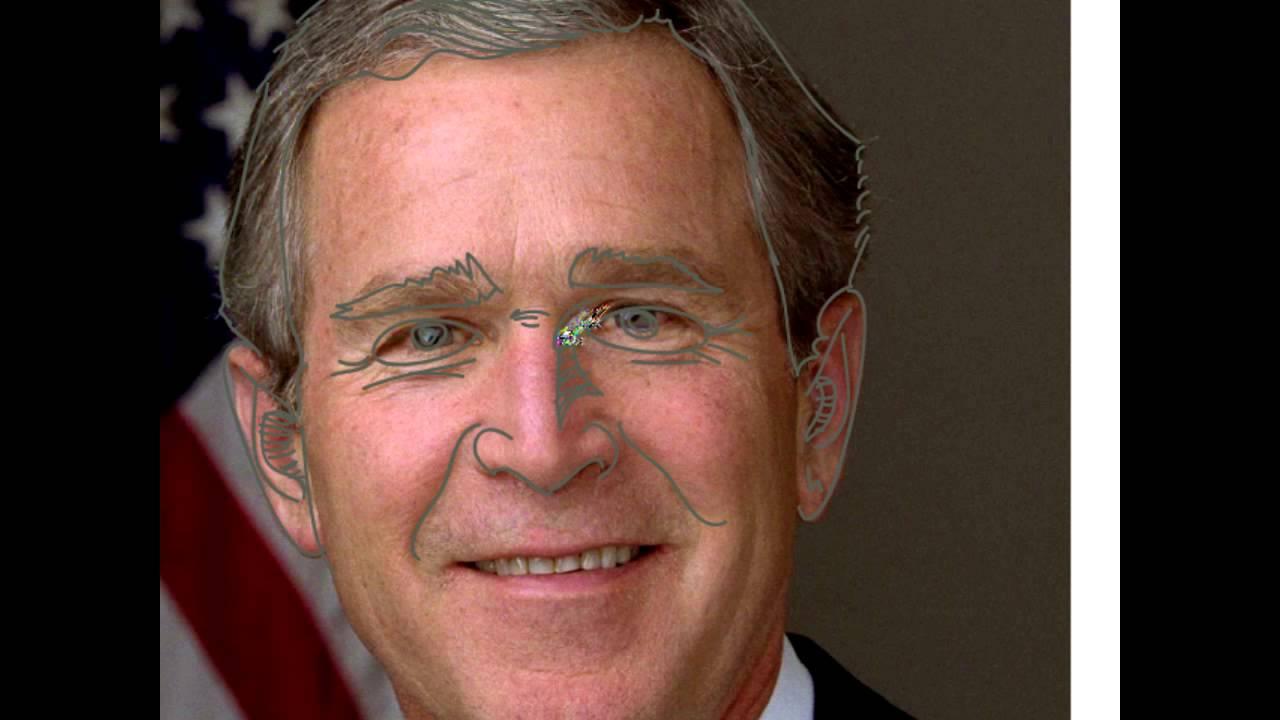 1280x720 Very Cool George W. Bush Line Drawing Tutorial
