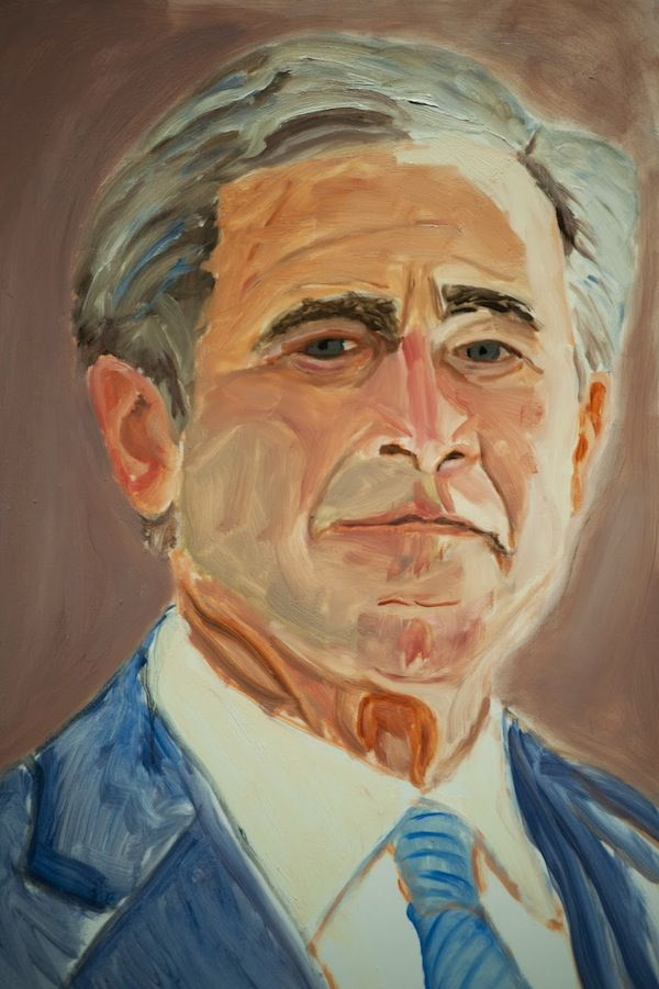 600x901 George W. Bush Selfie Art Art Therapy And Paintings