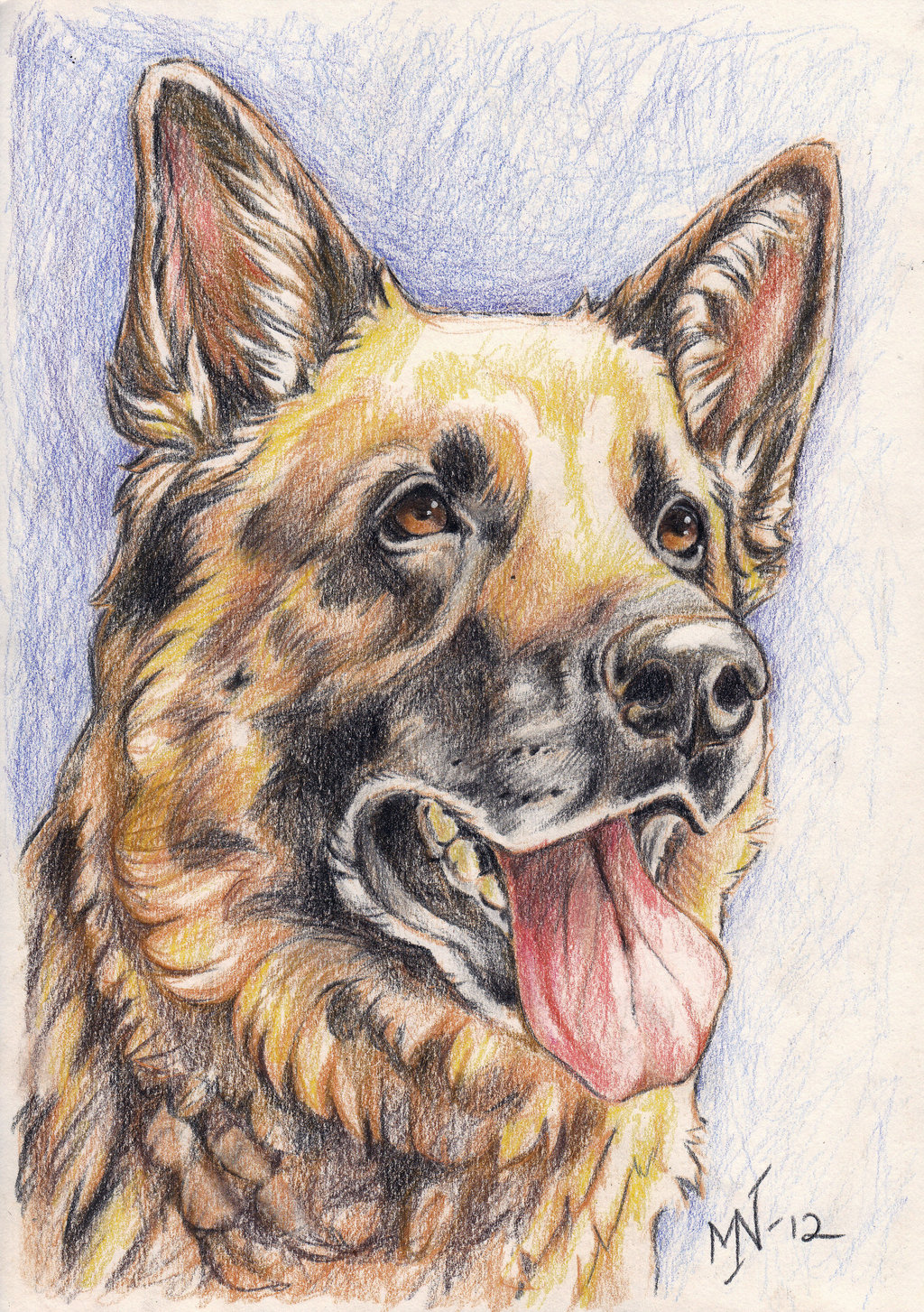1024x1453 Jazz The German Shepherd By ~kattvalk On Paintings