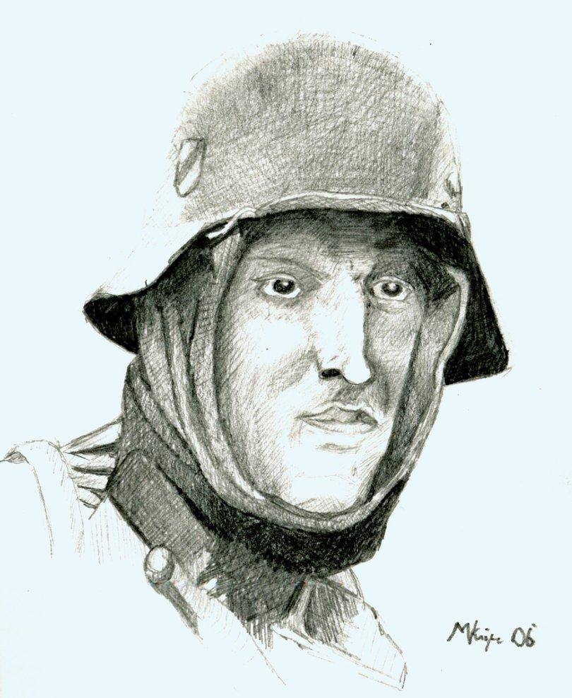 810x987 German Soldier Face By Wykdtron