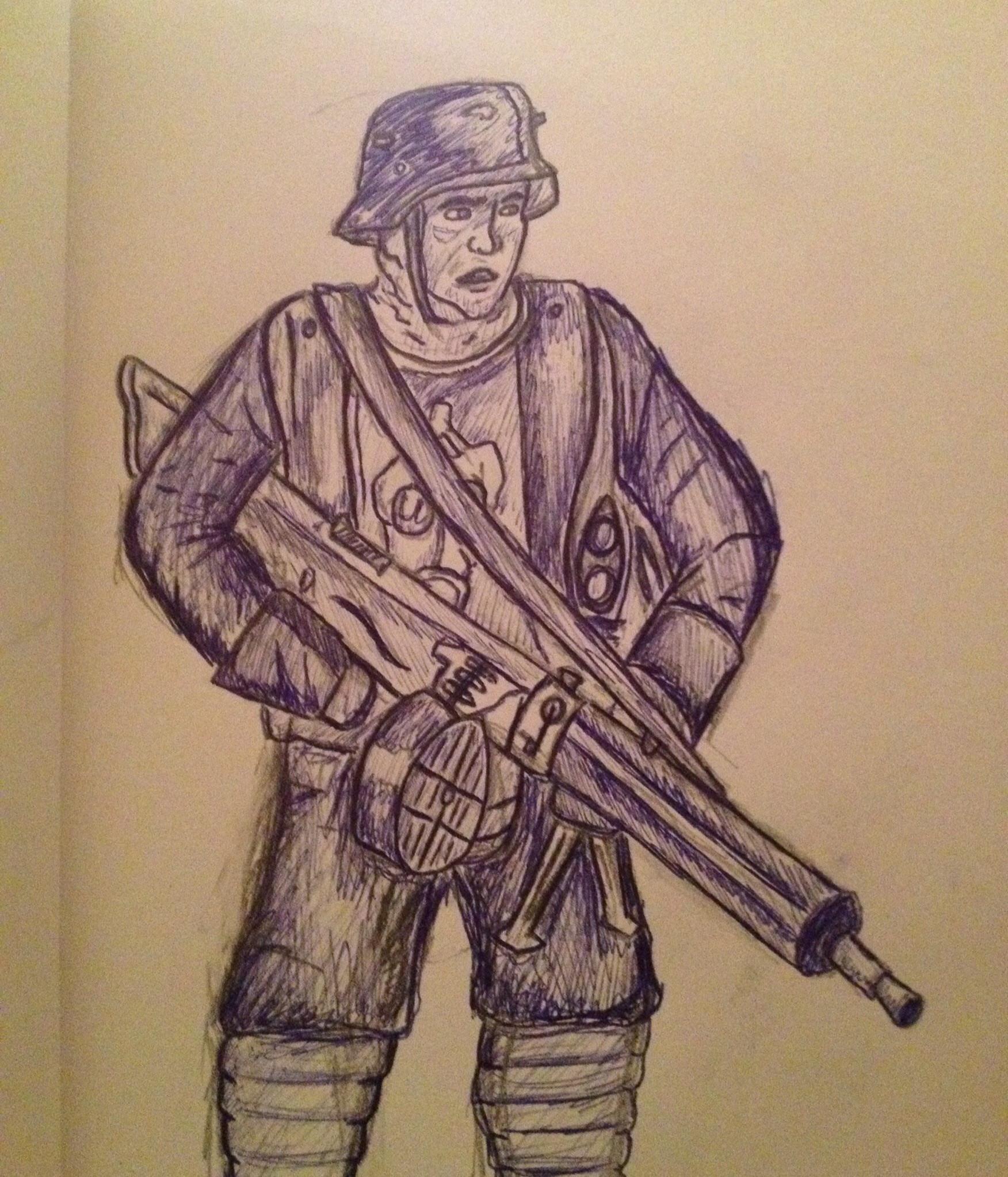 1752x2046 Ww1 German Soldier Sketch