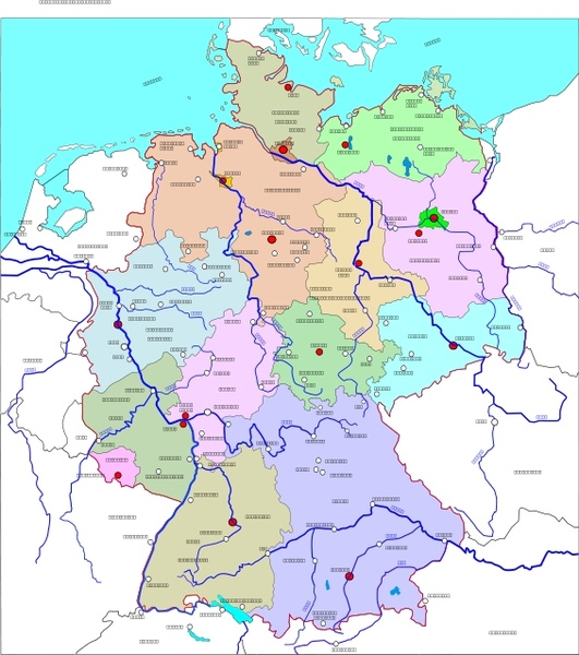 531x600 political map of germany free vector in open office drawing svg