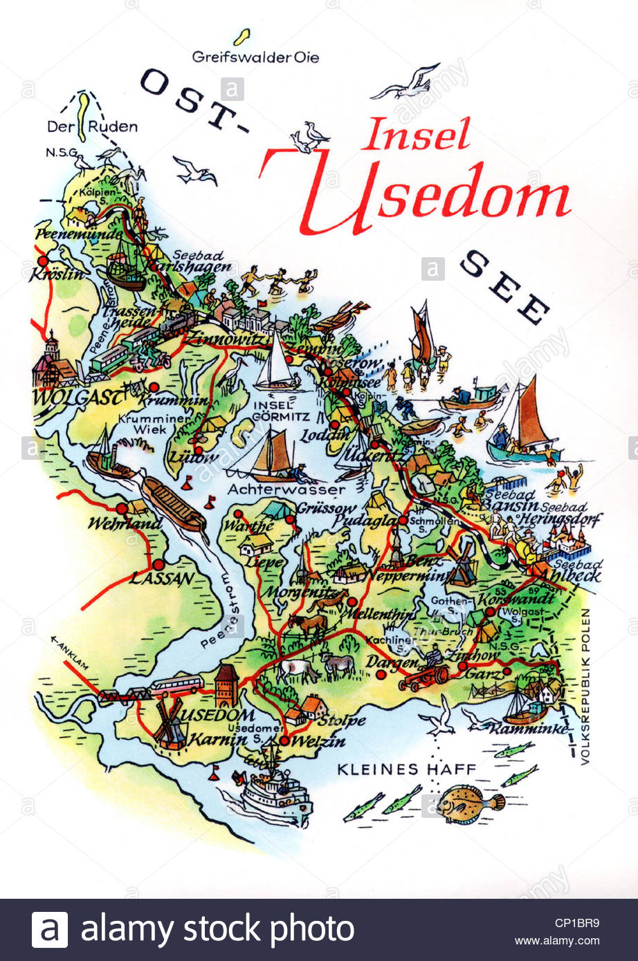 922x1390 geography travel germany islands usedom map drawing by a