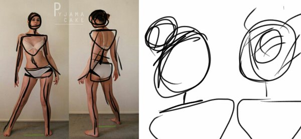 600x277 Character Design Gesture Drawing By Mangledraw25