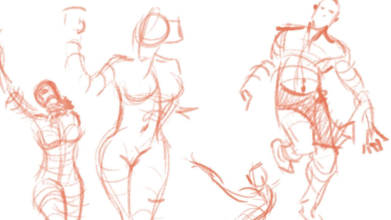 1280x720 Figure Drawing Part 1 Gesture Drawing
