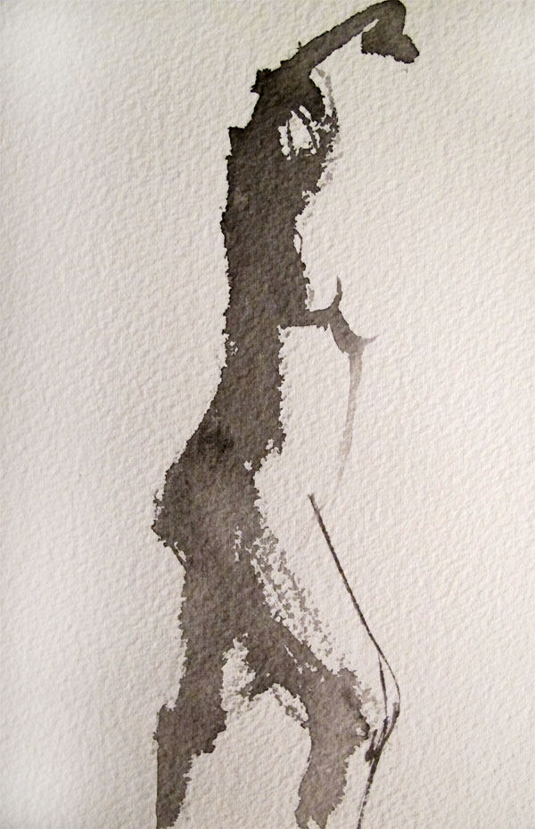 600x930 Gesture Figure Drawing In Ink Sketches, Paintings And Studies