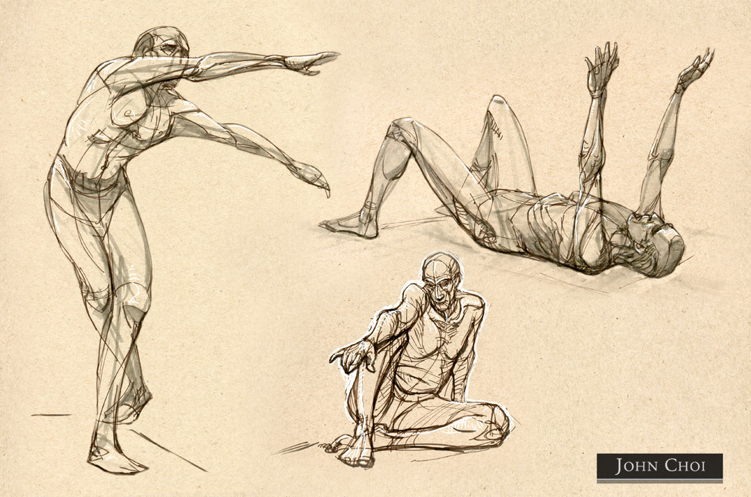 1080x715 Gesture And Construction Figure Drawing John Choi Sketchworks