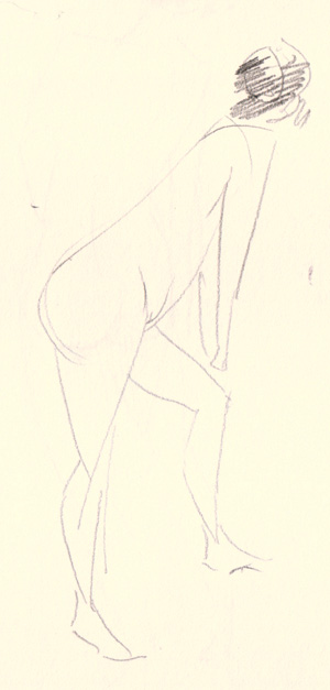 300x627 Gesture Drawings From Figure Drawing Session