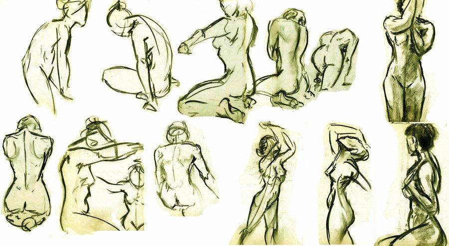 900x494 Gesture Figure Drawings 1 By Annathomas2012