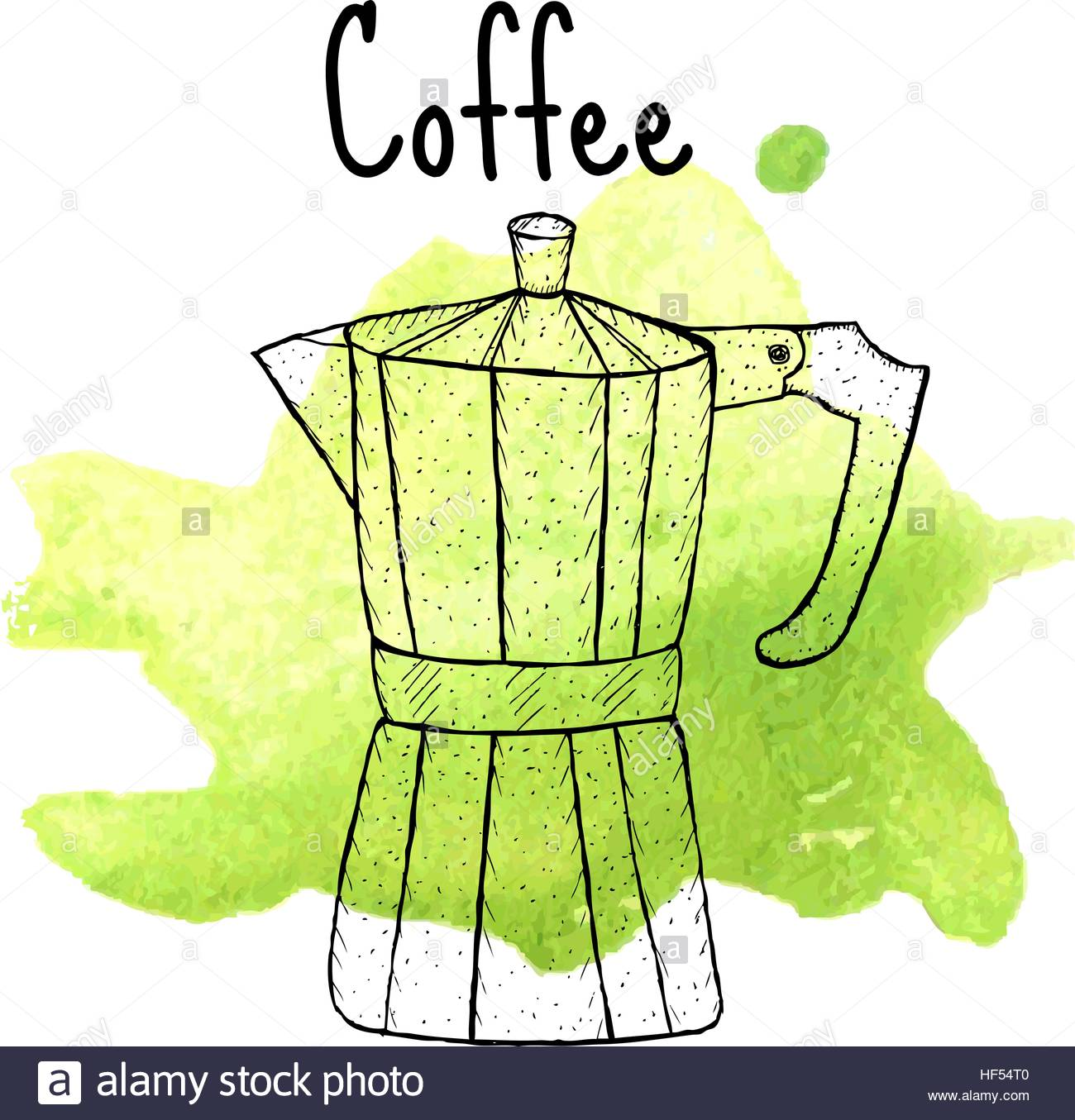 1300x1355 Geyser Coffee Sketch, Hand Drawing Style. Vector Illustration