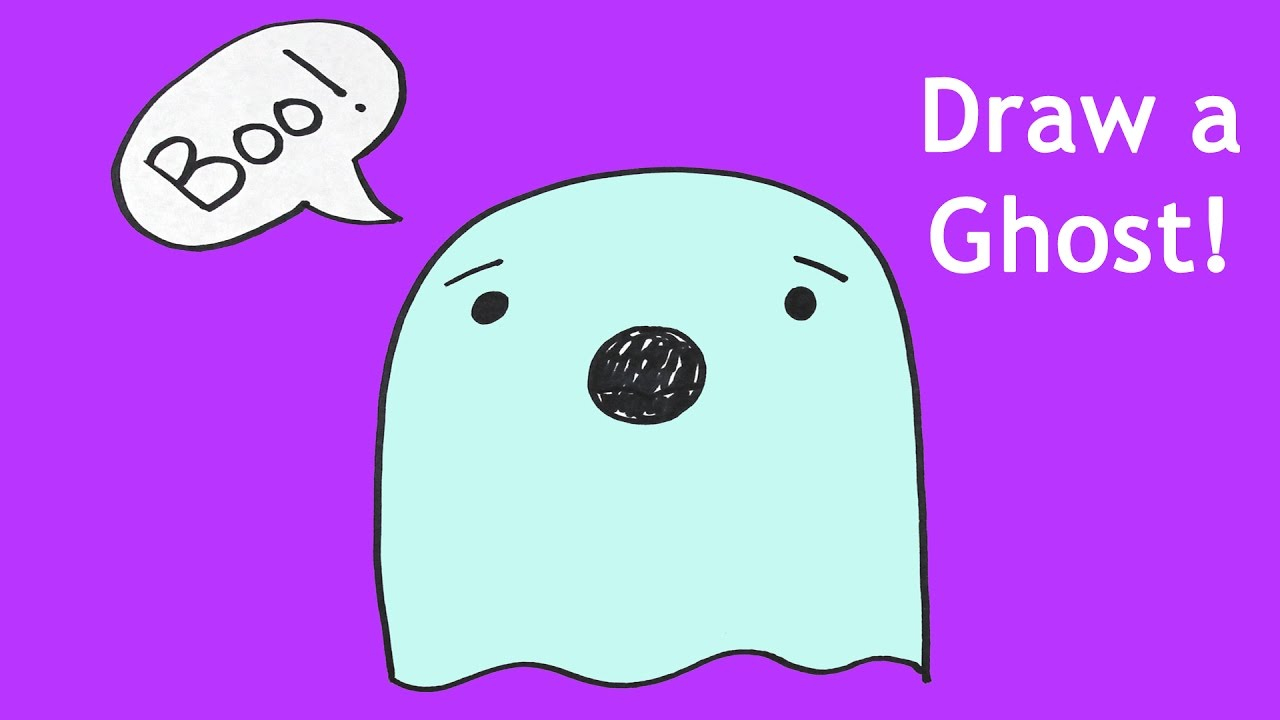 1280x720 How To Draw A Ghost For Halloween Drawing Lesson For Kids