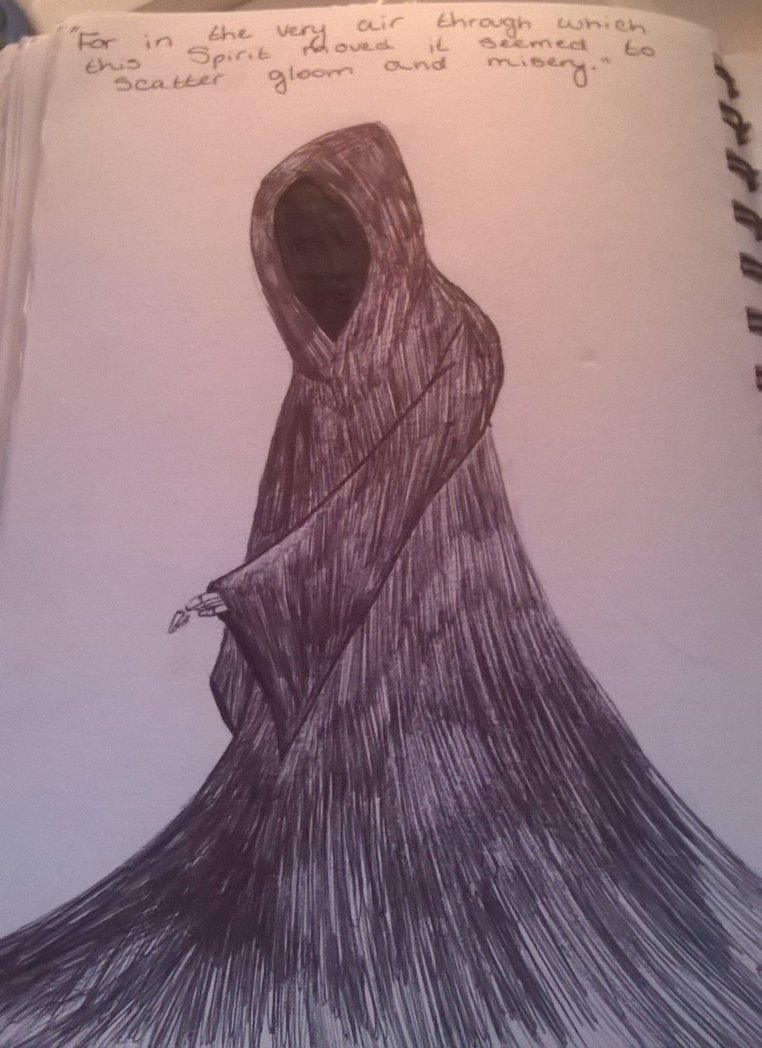 762x1048 The Ghost Of Christmas Yet To Come By Doom Is Drawing