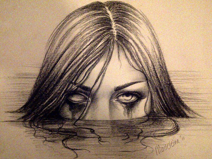 720x540 Creepy Drawings Scary Girl By Detailedexpressions