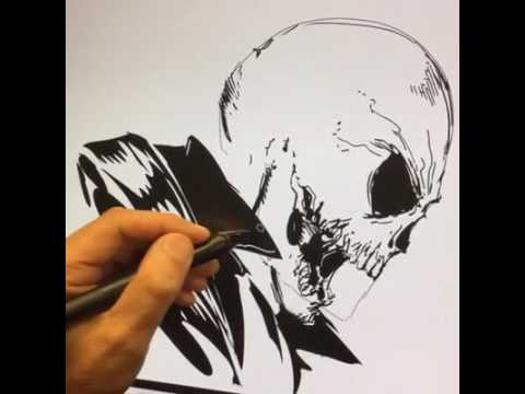 480x360 Live Drawing Of Ghost Rider