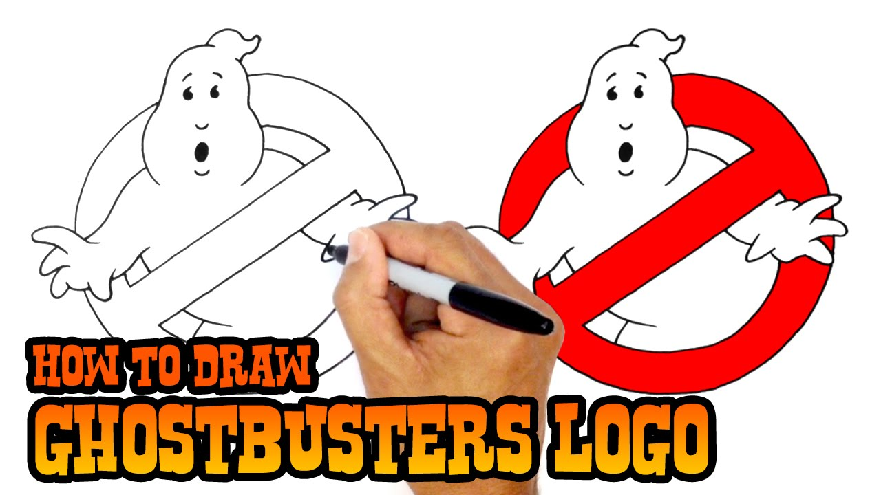 1280x720 How To Draw No Ghosts Logo Ghostbusters