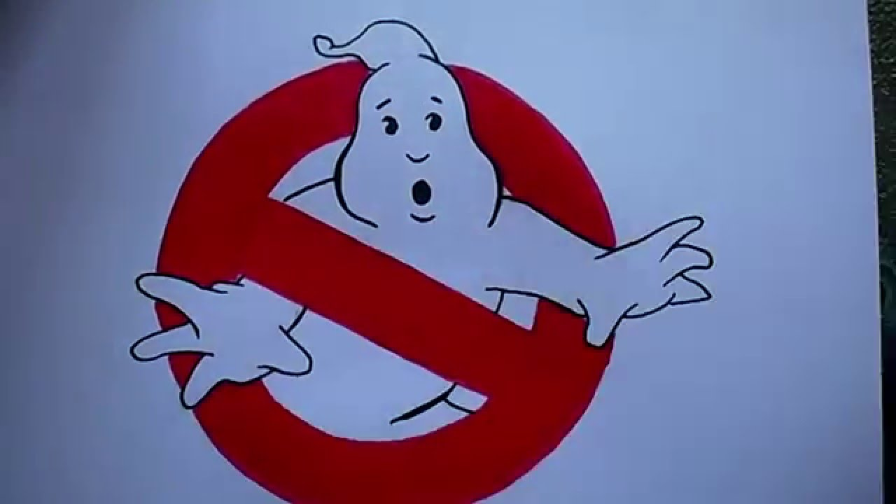 1280x720 How To Draw The Ghostbusters Logo
