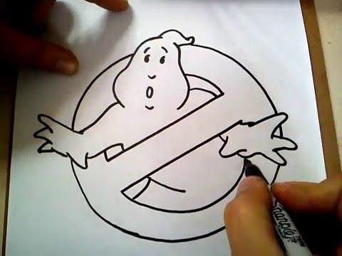 480x360 Como Dibujar El Logo De Los Cazafantasmas How To Draw