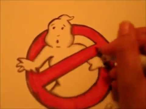 480x360 Ghostbusters Logo Speed Drawing