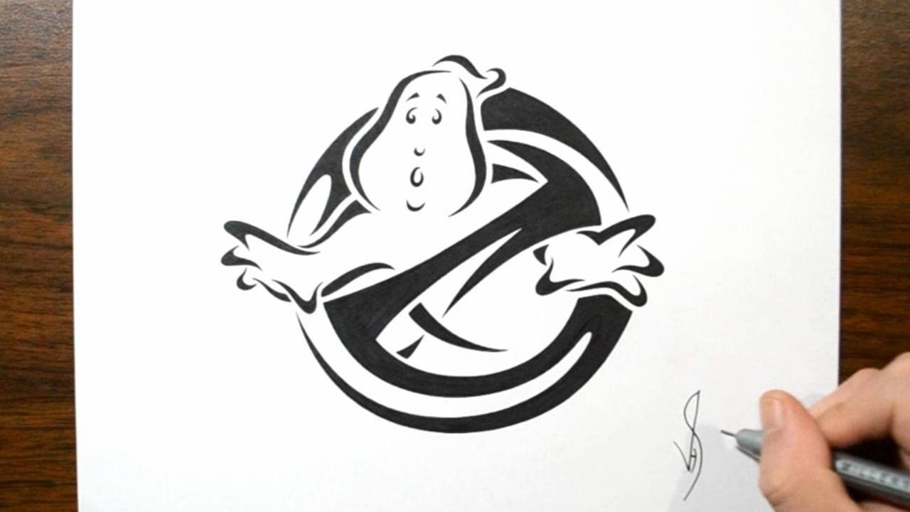 1280x720 How To Draw Ghostbusters Logo