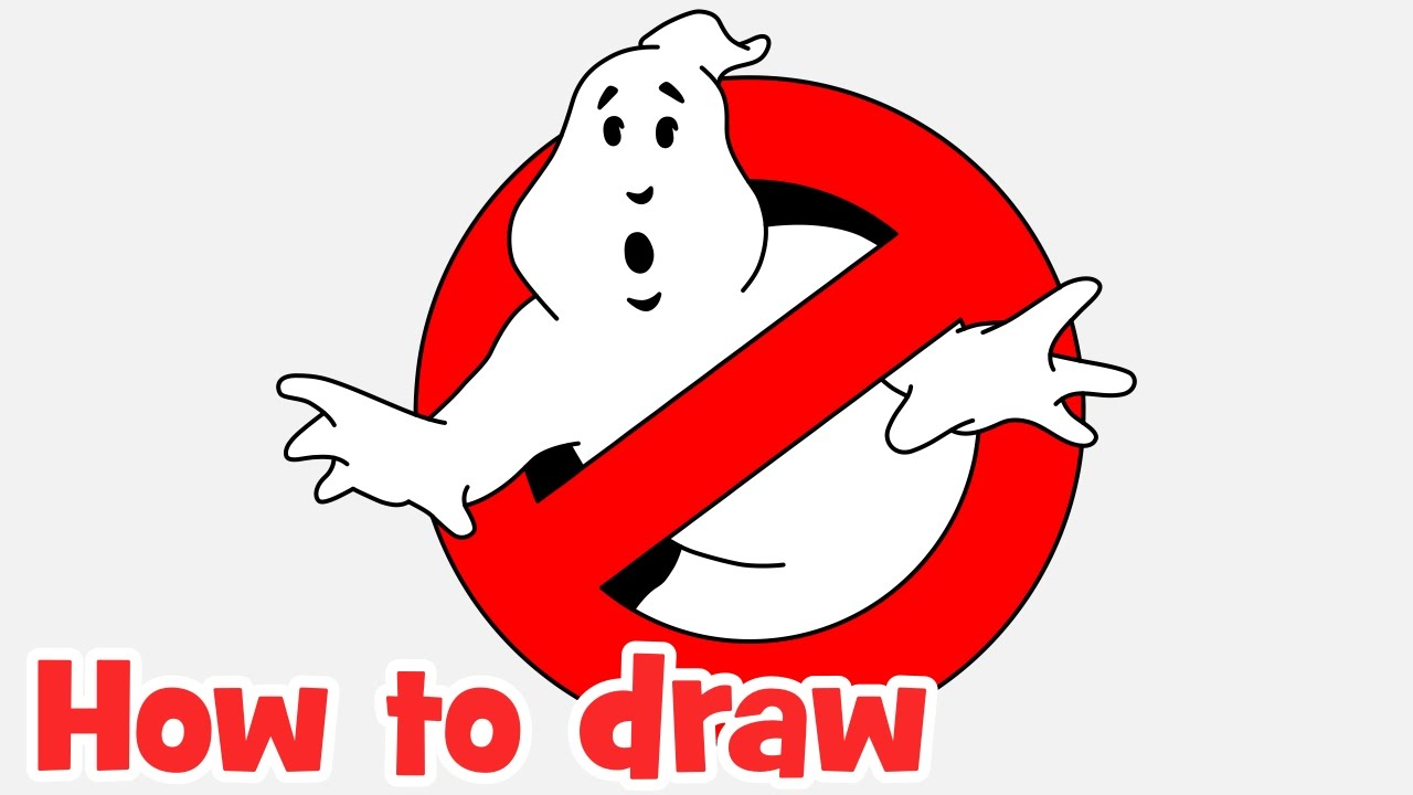 1280x720 How To Draw Ghostbusters Logo Step By Step