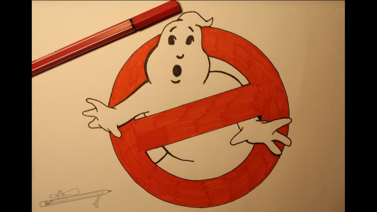 1280x720 Draw The Ghostbusters Logo