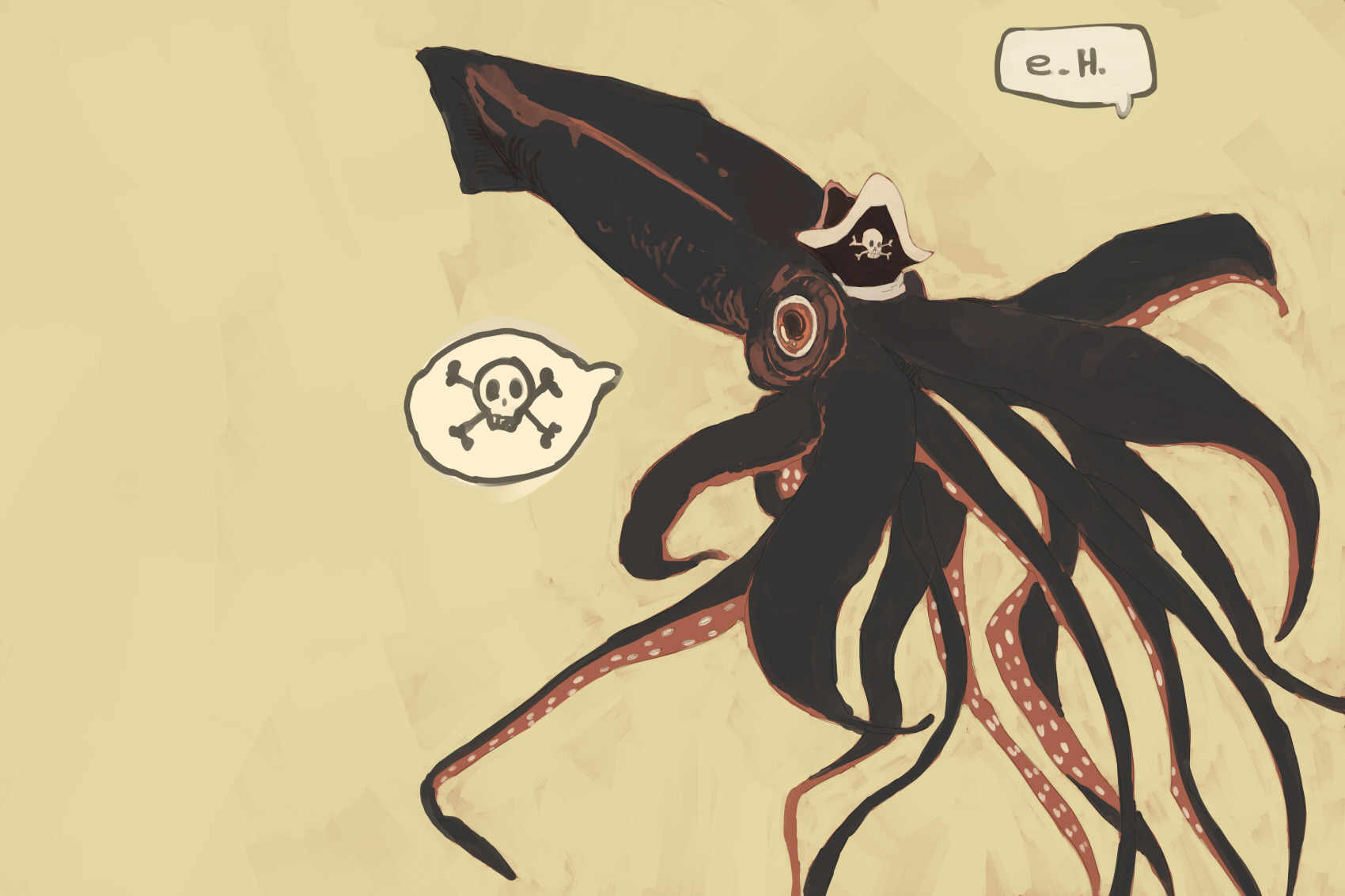 1700x1133 Pirate Giant Squid! By Explodingheath