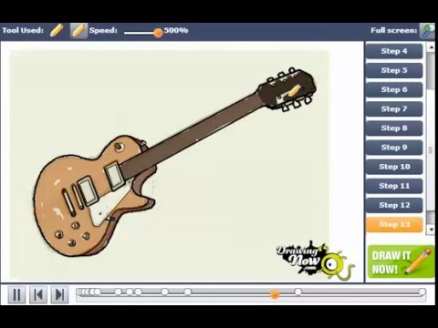 480x360 How To Draw A Gibson Les Paul Electric Guitar