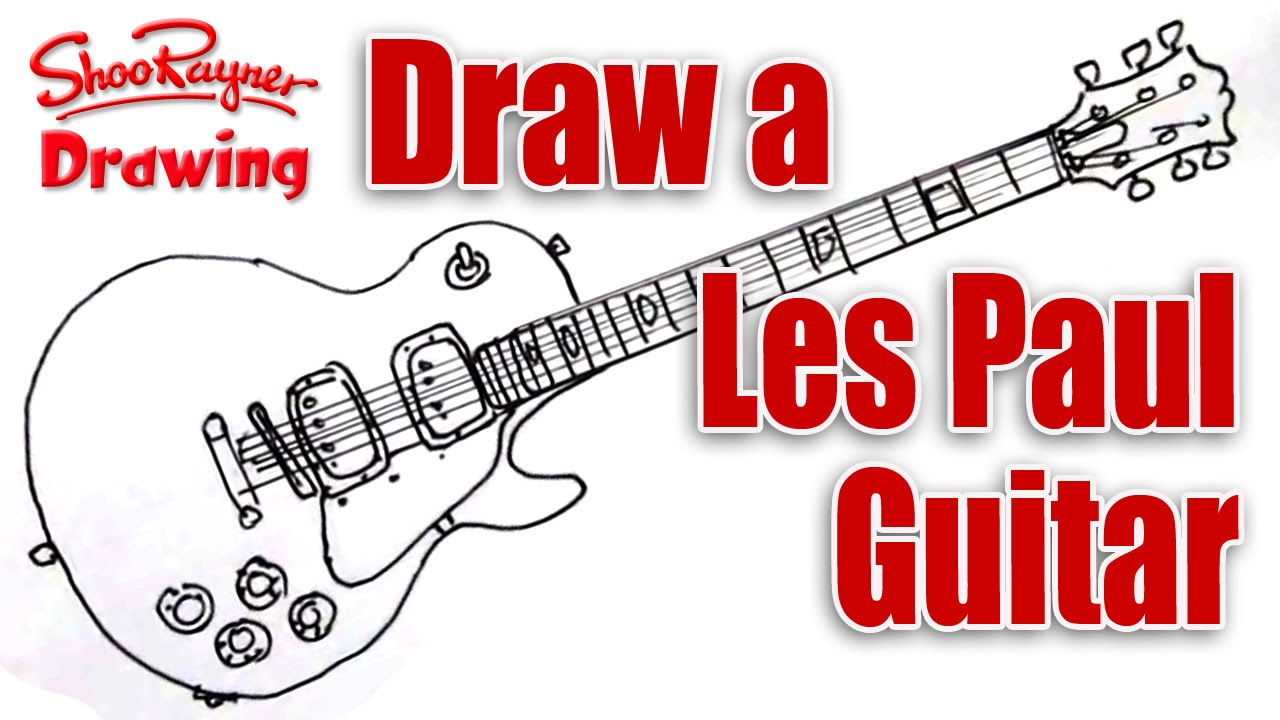 Gibson Les Paul Drawing At Free For Personal Use Classic 3pickup Electric Guitar With Case 1280x720 How To Draw A