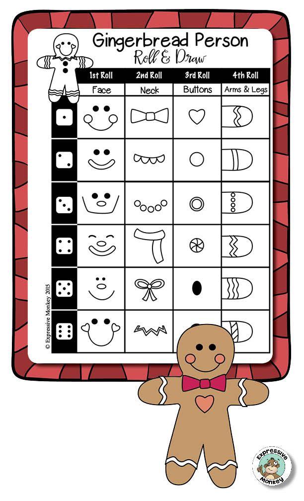 612x1008 Art Activity Winter Drawing Fun {Easy Art Sub Plan} Gingerbread