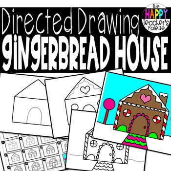 350x350 Directed Drawing ~ Gingerbread House ~ By The Happy Teacher's Palette