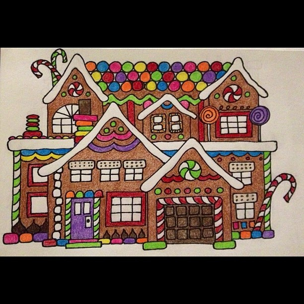 612x612 Gingerbread House