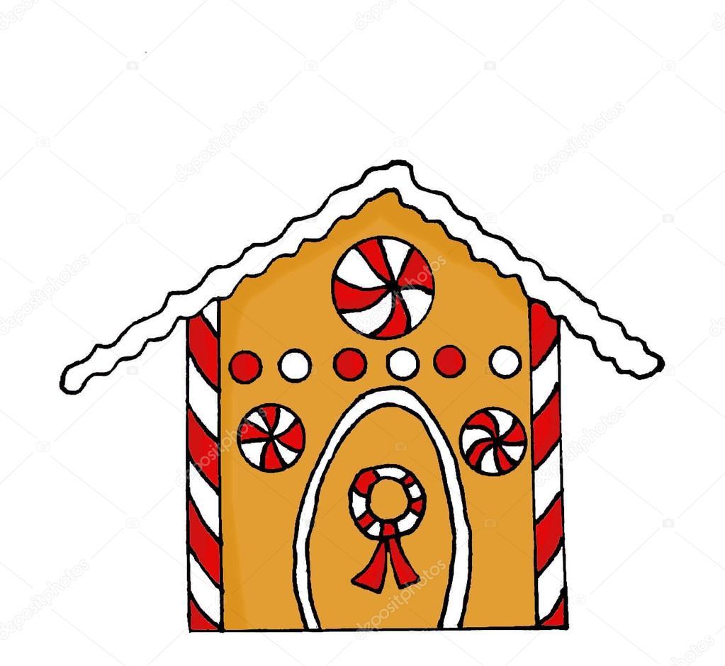 1023x940 Gingerbread House Drawing Stock Photo Portosabbia