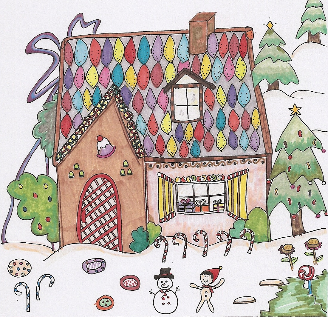 1100x1062 Gingerbread House Adult Corona Monart
