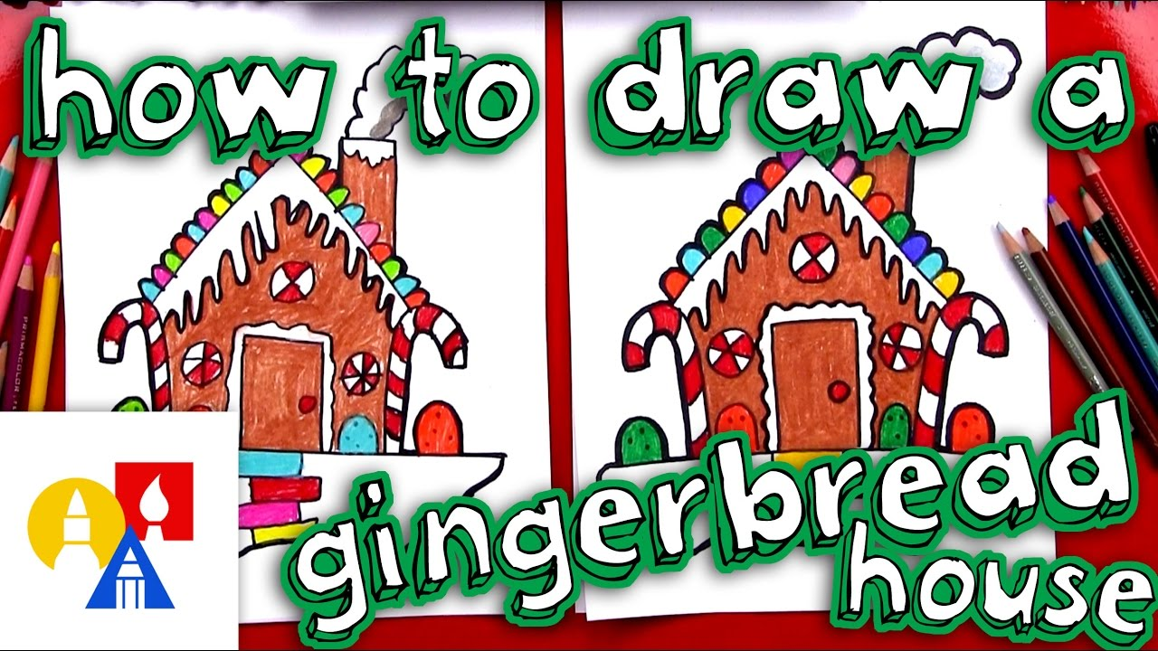 1280x720 How To Draw A Gingerbread House
