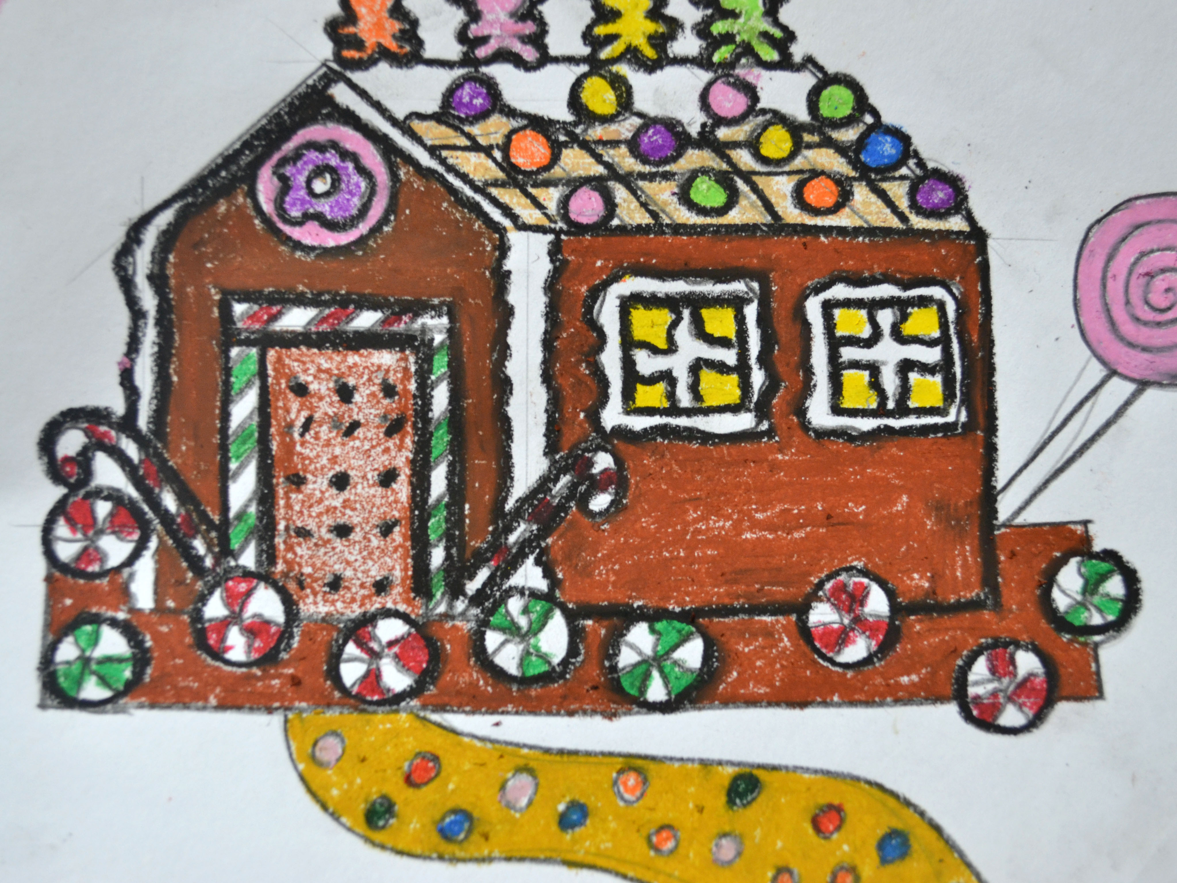 4096x3072 How To Draw A Gingerbread House (With Pictures)