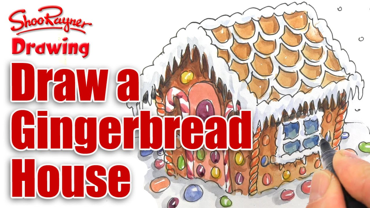 1280x720 How To Draw A Gingerbread House For Christmas
