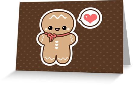 441x283 Cute Gingerbread Man Greeting Cards By Sugarhai Redbubble